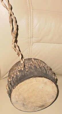 Old African Authentic Leather Drum Tam-Tam Musical Instrument from Zimbabwe