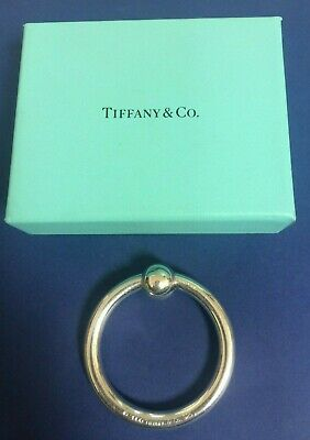 Sterling Silver Tiffany & Co round baby rattle teether ring