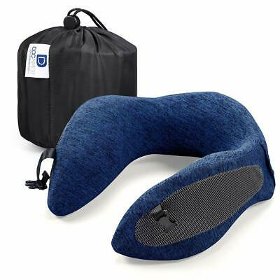 Travel Pillow Memory Foam Neck Compact U-Shaped Neck Support washable