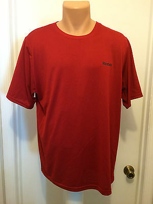 Reebok Play Dry Red Athletic Shirt Mens L Short Sleeves Polyester