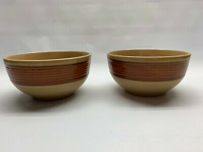 Gibson Everyday gold brown Soup  Cereal Bowl serving set 2