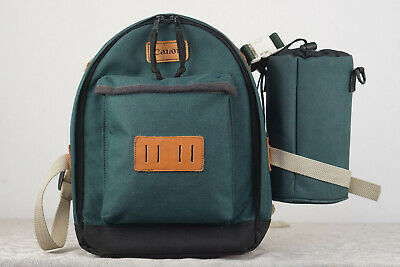 CANON Camera Backpack Green Canvas Plus Sigma lens bag