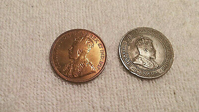 1906 & 1916 Canadian Copper Large Cent Coin Canada One Cent  Nice