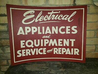 Vintage Electric Appliance Service & Repair Sign Authentic Original 24 x 18 inch