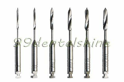 12Pcs Dental Stainless Steel Endodontic Pesso Reamers(L32mm #1-6) for Root Canal