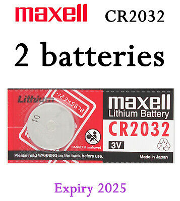 2X Genuine Maxell Lithium CR2032 H High Density Battery Button Coin Cell 3V