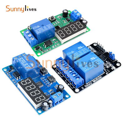 12V/5V 2 Channel Relay Digital LED Delay Relay Timer Control Switch Automation