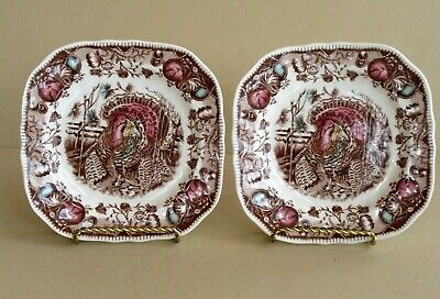 Johnson Brothers HIS MAJESTY (2) Square Salad Plates~ Excellent