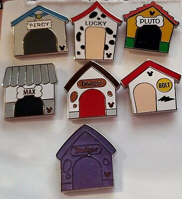 Disney Pins Hidden Mickey Doghouses 2019 Wave C Complete 7 Pin Set FREE SHIP