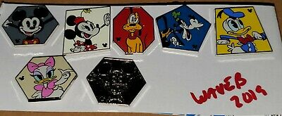 Disney Pins Hidden Mickey Characters 2019 Wave B Complete 7 Pin Set FREE SHIP