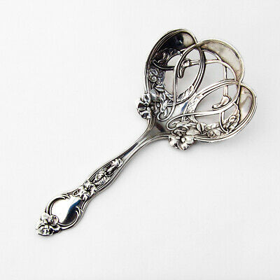Violet Nut Candy Spoon Pierced Bowl Wallace Sterling Silver 1904