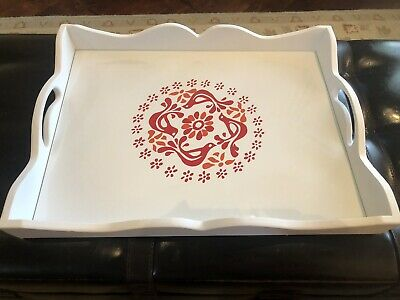 Pyrex Friendship Hand Crafted Tray w/ Glass