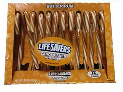 Life Savers Butter Rum Candy Canes 12 Count Box. (Pack of 2)