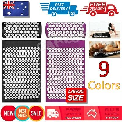 Yoga Massage Acupressure Mat Shakti Sit Lying Mats Pain Stress Soreness Relax J