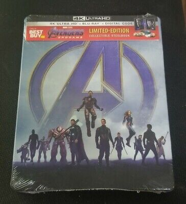 Avengers: Endgame ( Blu-ray, 2019, Limited Edition) Steelbook BestBuy Exclusive