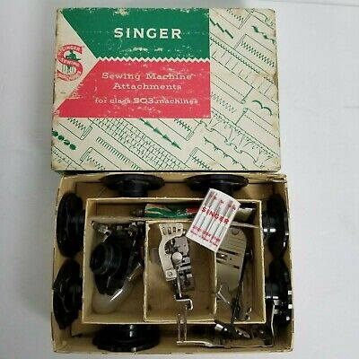 Lot Vintage SINGER 503 Sewing MACHINE Attachments shank ruffler