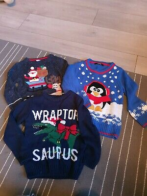 Boys Christmas Jumper Bundle X3 Size 2 To 3 By Tu
