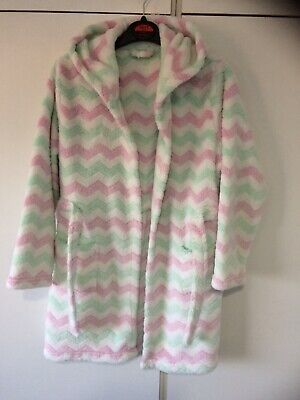 George Girls Stripey Fluffy Dressing Gown Age 8 Years