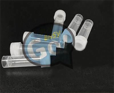 100Pcs Conical Micro Centrifuge Tubes W/Caps Plastic Chemistry Test Vials 2ml