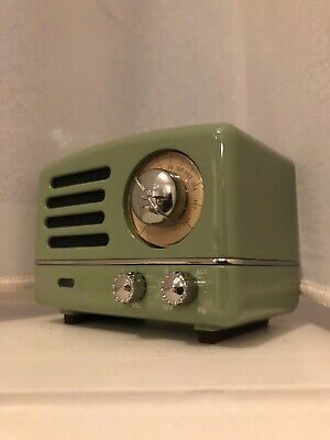 Muzen Speaker and Radio Bluetooth. Metal Green. (New) (Great sound quality)