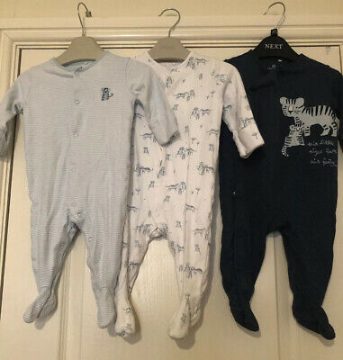 Baby Boys Next Babygrows / Sleepsuits 3-6 Months