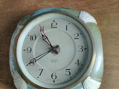 Rare SMITHS SECTRIC Art Deco Wall Clock