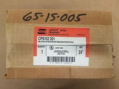 NEW Crouse-Hinds CPS152201 Delayed Action Circuit Breaking Receptacle Assembly