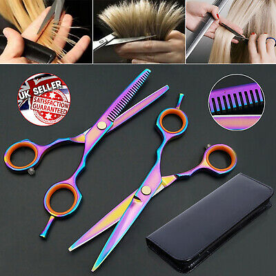 "5.5"" Professional Salon Barber Hairdressing Cutting Thinning Scissors Set Case"