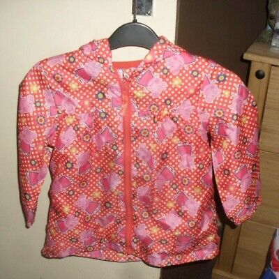Girls Peppa Pig Shower Proof Jacket Age 4-5 Years From Nutmeg - Used