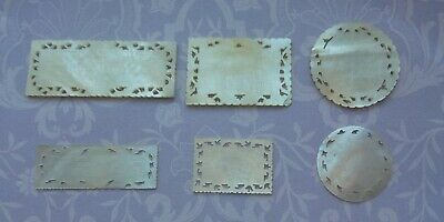 Antique Chinese Etched Mother Of Pearl Pierced Gaming Card Games Tokens Counters
