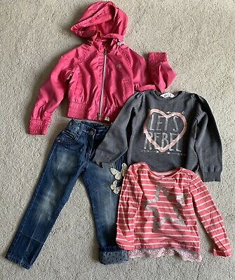 Girls Next Outfits with rain Jacket, Jeans & Tops 3-4 Years old