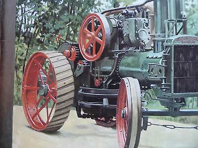 Walsh & Clark Victoria Early With Winch Colour Vintage Tractor Illustration