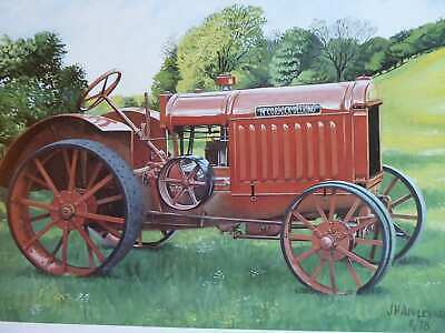 McCORMICK-DEERING 10-20 ON FARM FIELD COLOUR VINTAGE TRACTOR ILLUSTRATION
