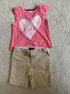 Girls Ralph Lauren Polo Shorts & tkmaxx Top 2-3 Years Old Girls Set