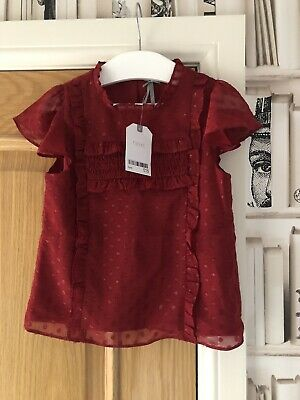 Girls Next Red Party Top Age 5 Years New