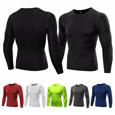 Mens Body Armour Compression Mock Neck Baselayers Thermal Under Shirt Top