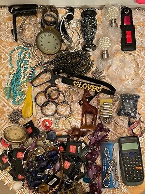 House Clearance Job Lot, Jewellery, Clocks, Collectable, Vintage, Antique Items