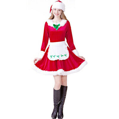 1 Set Fashion Creative Vintage Xmas Dress Party Clothing for Women Girls Ladies