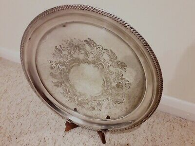 Beautiful Vintage Butler Cavendish Large Silver Plated Tray