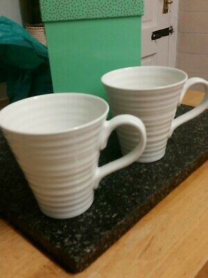 Sophie conran for portmeirion white set of 2 mugs new and boxed