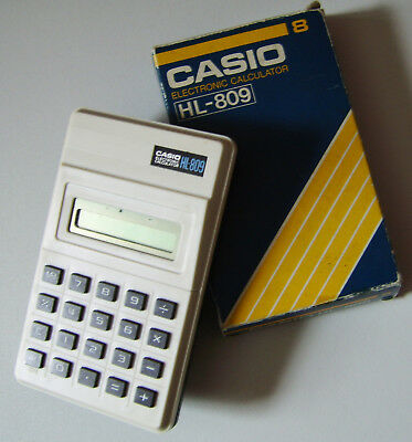CASIO ELECTRONIC CALCULATOR, Model HL-809.