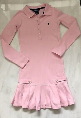 💯% Genuine Girls Ralph Lauren  Polo Long Sleeve Dress Age 7 Years