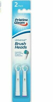 2 X UNIVERSAL Electric Toothbrush Heads Compatible Oral B