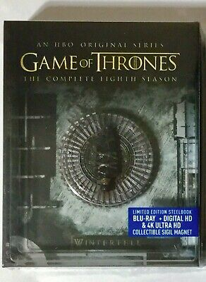 Game Of Thrones Season 8 Steelbook 4K Blu-ray Digital Brand NEW FREE~Shipping!