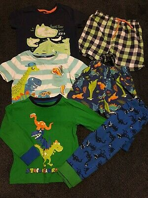 Bundle Of Boys Dinosaur Pyjamas Age 18 Months- 3 Years From M&S, Nutmeg And L&D