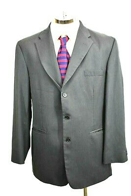 Haggar Black Label Mens 44R Regular Gray Professional Business Suit Jacket