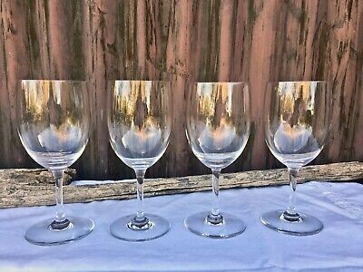 "Set of 4 BACCARAT Crystal ""Perfection""  6.5"" Water Goblets / Wine Glasses FRANCE"