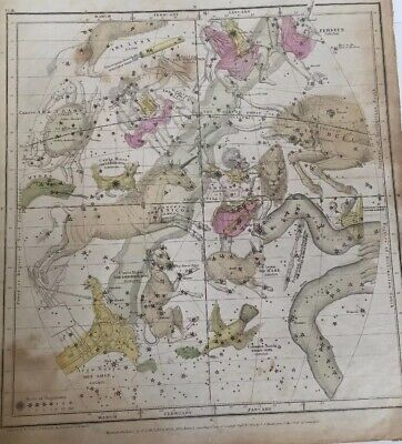 1835 Burritt Celestial Atlas to Illustrate Geography of the Heavens Not Complete