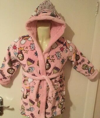Girls Fleece Dressing Gown Disney Frozen Team Elsa Age 6 years VGC Pink