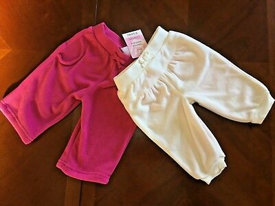 2 Pairs Baby Girls Micro Fleece Joggers From Cherokee  Age 0-3 Months  Bnwt